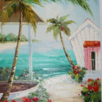 Colombia Scenery Beach (Original Oil)