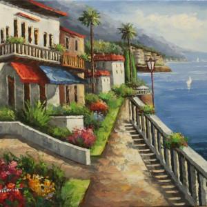 Italian Coast Line - Acrylic Art