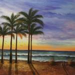 west coast sunset (original art)