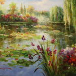 lily pond (acrylic art)
