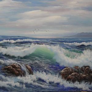 Stormy Sea (sea scape art)