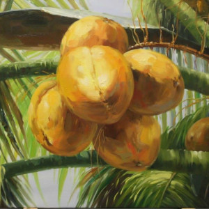 coconuts (tropical art)