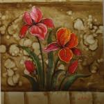 Red Iris (floral art)