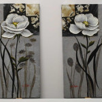 white flower (small paintings)