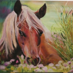 Stop and Smell the Flowers (horse, geclee)