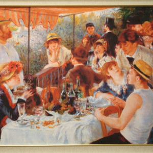 Luncheon Of The Boating Party By Renoir Reproduction