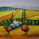 country side (acrylic painting)