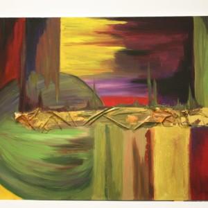 Walk on Mars (abstract paintings)
