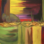 high gloss acrylic abstract (paintAings in Boca Raton)