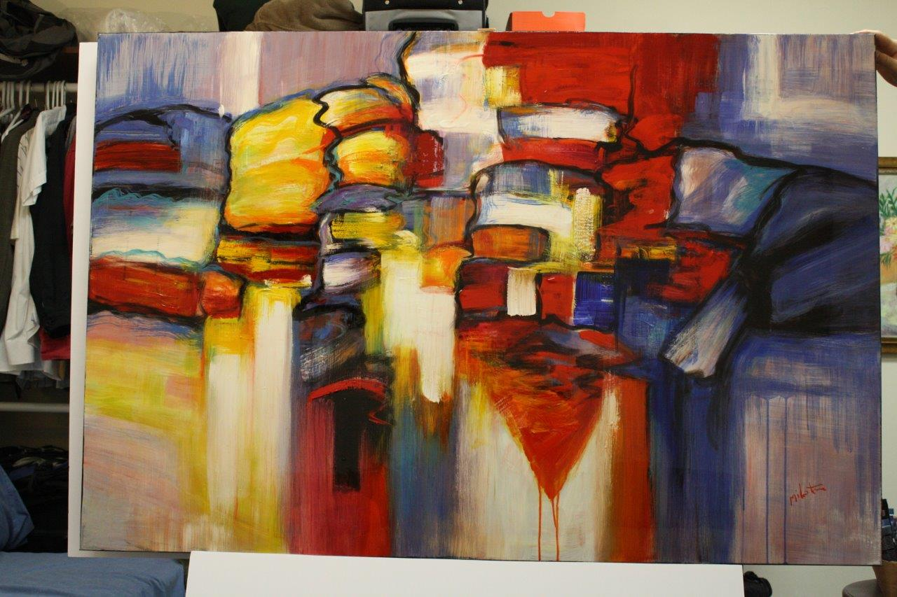 high gloss acrylic abstract paintings in boca raton picture