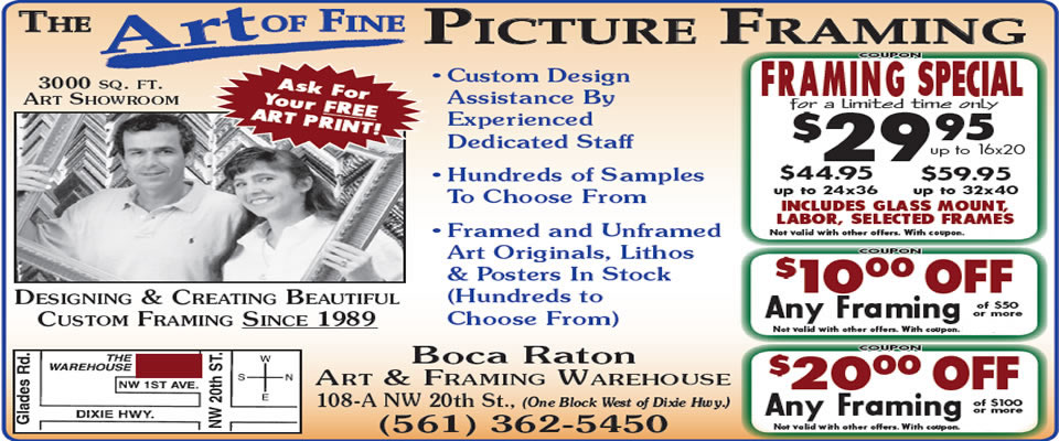 Boca Raton picture framing